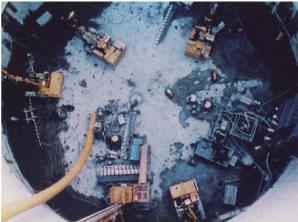 無機溶液型耐久グラウト・シリカゾルグラウトの施工写真